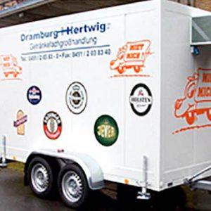 Kuehlanhänger aus dem Verleihservice von Dramburg+Hertwig Getränkefachhandel