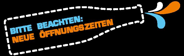 Dramburg + Hartwig Getränkefachhandlung - Logoflaschengrafik mit integriertem Texthinweis: geänderte Öffnungszeiten